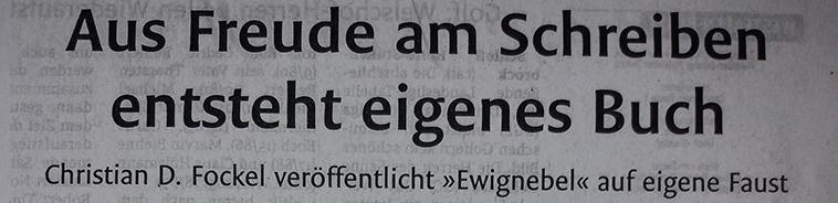 """Der Autor im """"Westfalen Blatt"""" am 10. August 2018"""